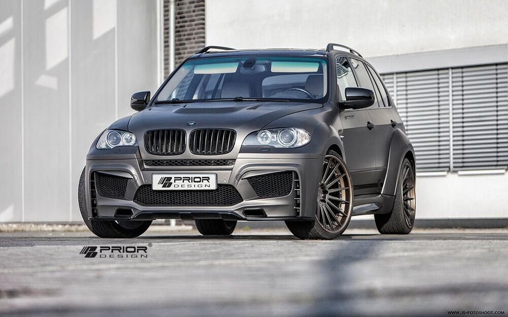 bmw e70 x5 full wide body kit front rear bumper vented. Black Bedroom Furniture Sets. Home Design Ideas