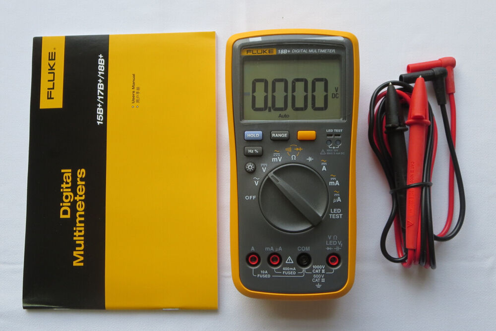 Fluke Digital Voltmeter : New fluke digital multimeter f b led tester