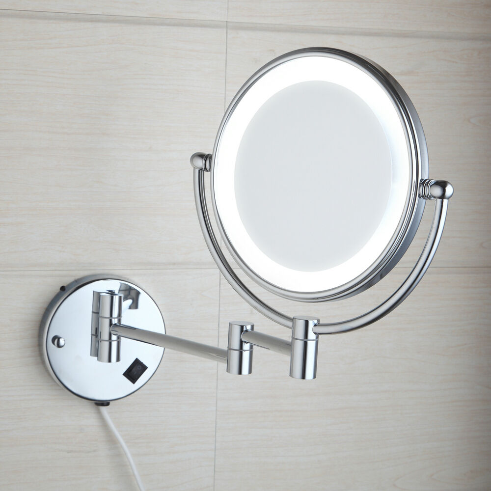 New wall mounted double sided normal magnifying light for Wall mounted mirror
