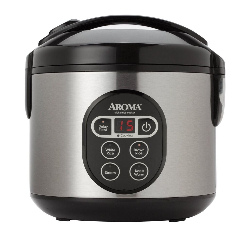 Aroma Digital Rice Cooker Aroma Stainless Steel Kitchen Food Steamer And Digital ...