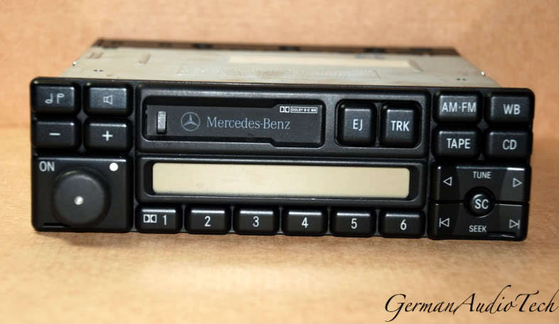 Mercedes am fm radio stereo cassette 1994 1998 e320 c for Mercedes benz stereo