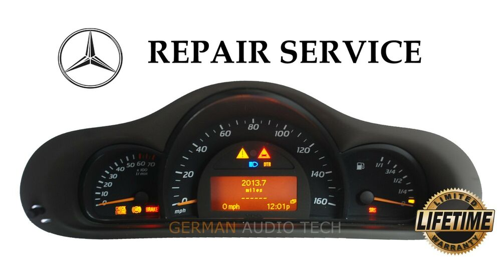 Mercedes benz c200 c230 kompressor elegance instrument for Mercedes benz cluster repair