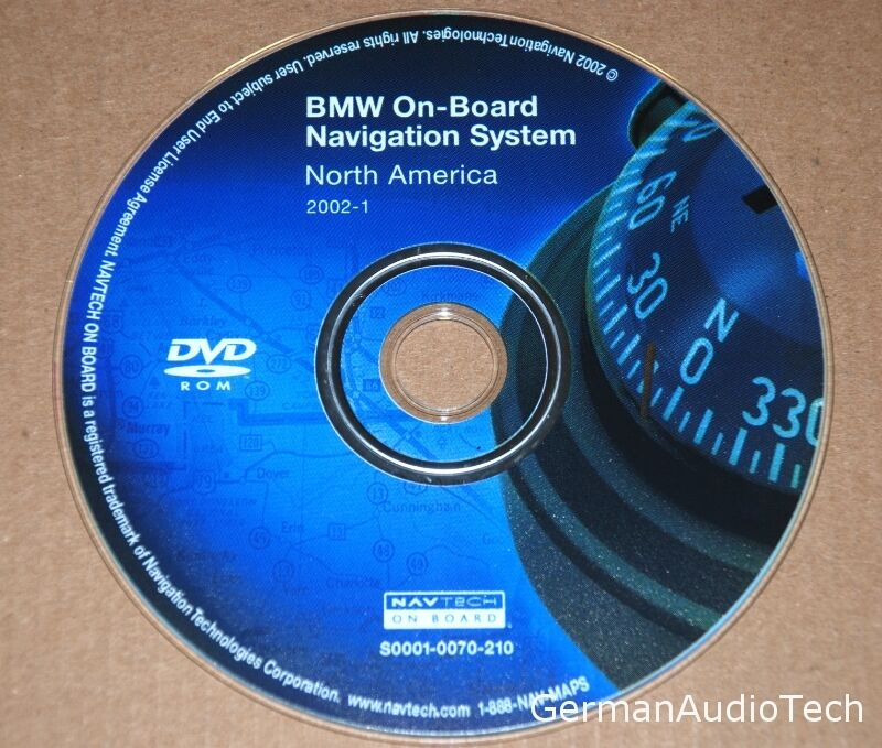 bmw navteq on board navigation dvd map disc north america. Black Bedroom Furniture Sets. Home Design Ideas
