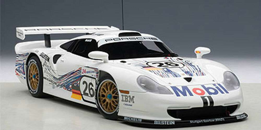 autoart porsche 911 gt1 24hrs lemans 1997 26 1 18 scale new in stock ebay. Black Bedroom Furniture Sets. Home Design Ideas
