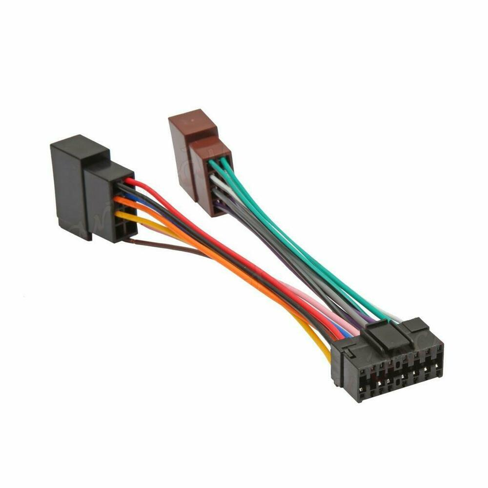 sony 16 pin iso wiring harness connector adaptor car ... car stereo color wiring diagram for a 2007 kia spectra 5