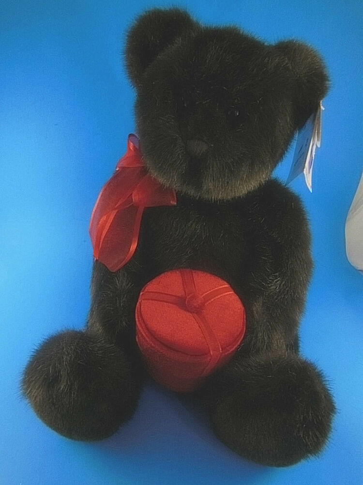 Gund Musical Make A Wish Bear Plush With Red Velvet