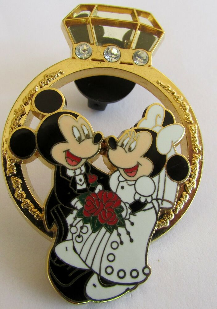disney pin 56449 wedding ring mickey mouse