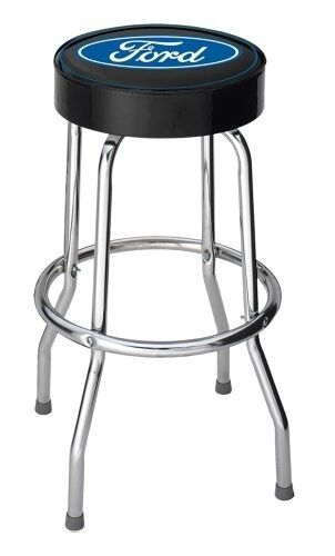 Ford Logo Garage Bar Stool Blue Oval Custom Man Cave Cool