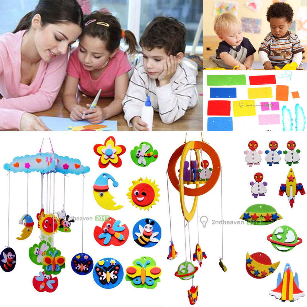 Children kids educational diy handmade craft toy wind for Craft toys for kids