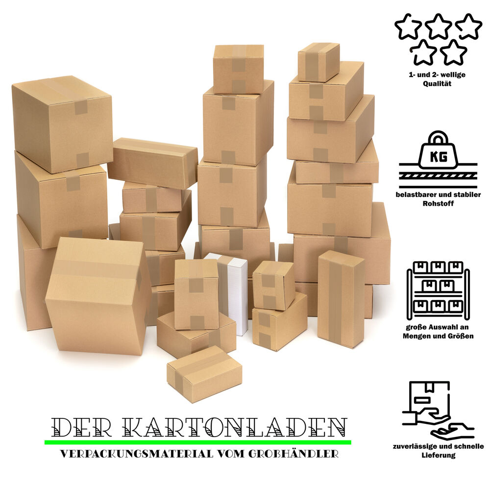 karton faltkarton versandkarton verpackungen schachtel gr e und menge w hlbar ebay. Black Bedroom Furniture Sets. Home Design Ideas