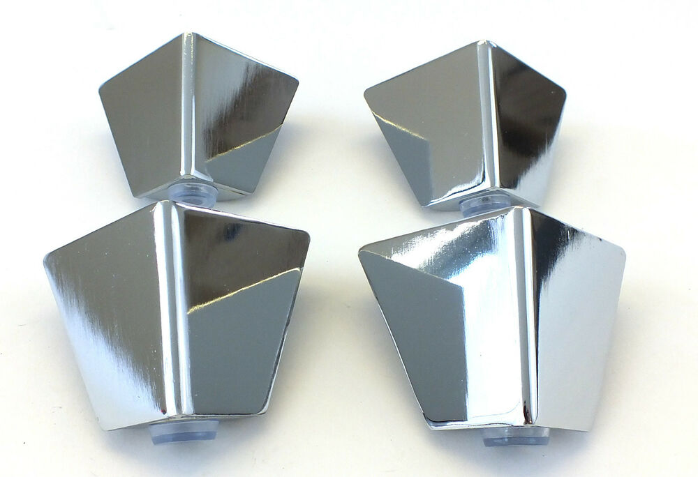 4x Chrome Metal Furniture Legs Feet Sofas Armchairs Footstools 65mm High A425 Ebay
