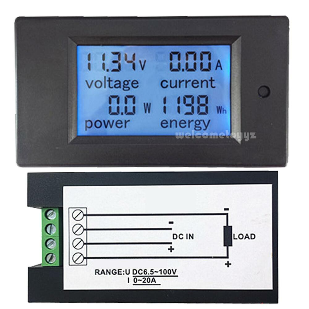 Hour Meters Panel : Dc v a in lcd digital combo panel meter volt