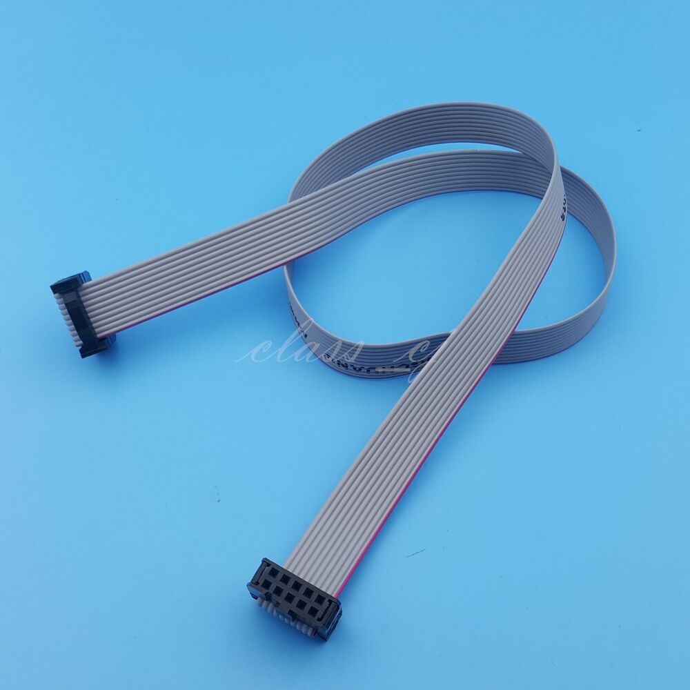 50cm 2x5 10pin Idc Flat Ribbon Data Cable 2 54mm Pitch Avr