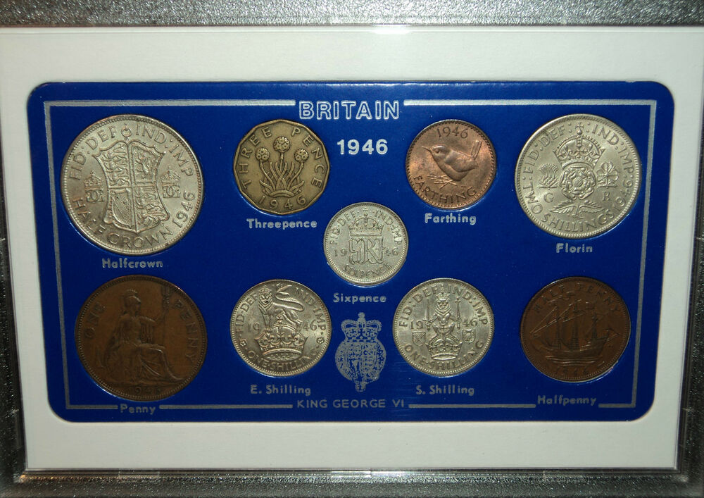 70 Year Wedding Anniversary Gifts: 1946 Vintage Coin Set 71st Birthday Birth Year Present
