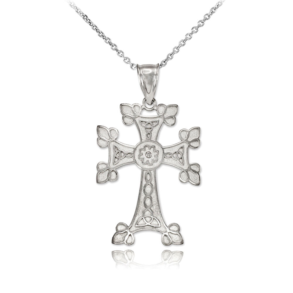 sterling silver orthodox cross pendant necklace ebay. Black Bedroom Furniture Sets. Home Design Ideas