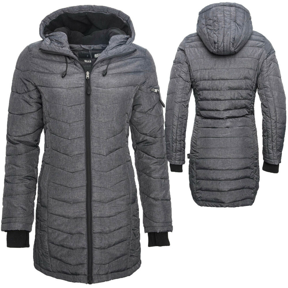 sublevel langer damen winter stepp mantel parka jacke lang grau neu b174 s xxl ebay. Black Bedroom Furniture Sets. Home Design Ideas