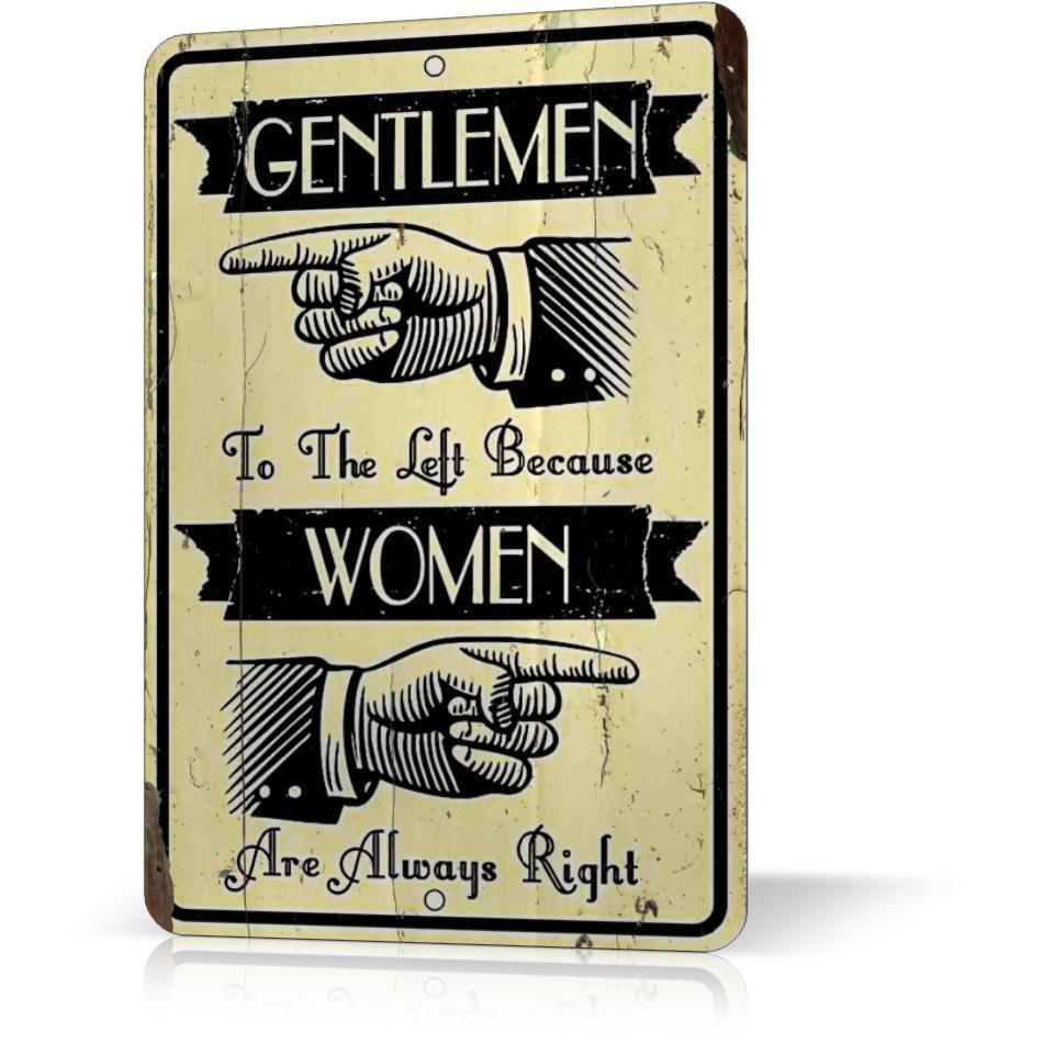 Metal Signs For Home Decor: Metal Tin Sign WOMAN ARE ALWAYS RIGHT Funny Poster Decor