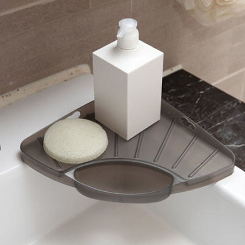 Corner Sink Storage : Convenient Sink Corner Shelf Kitchen Storage Organizer Space Saver ...