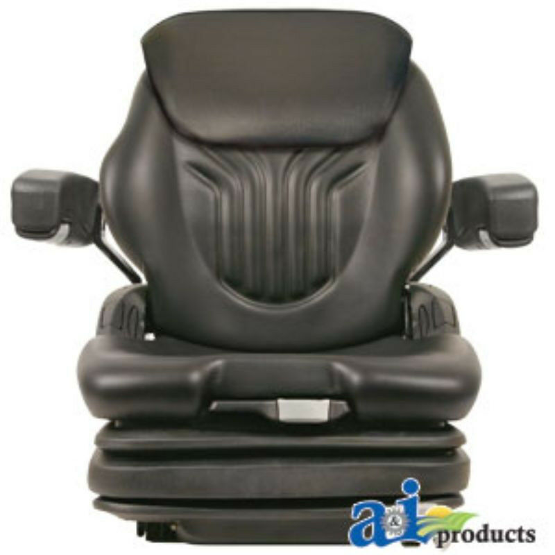 Universal Vintage Tractor Seat Replacement : Grammer universal black vinyl tractor seat msg gblv assy