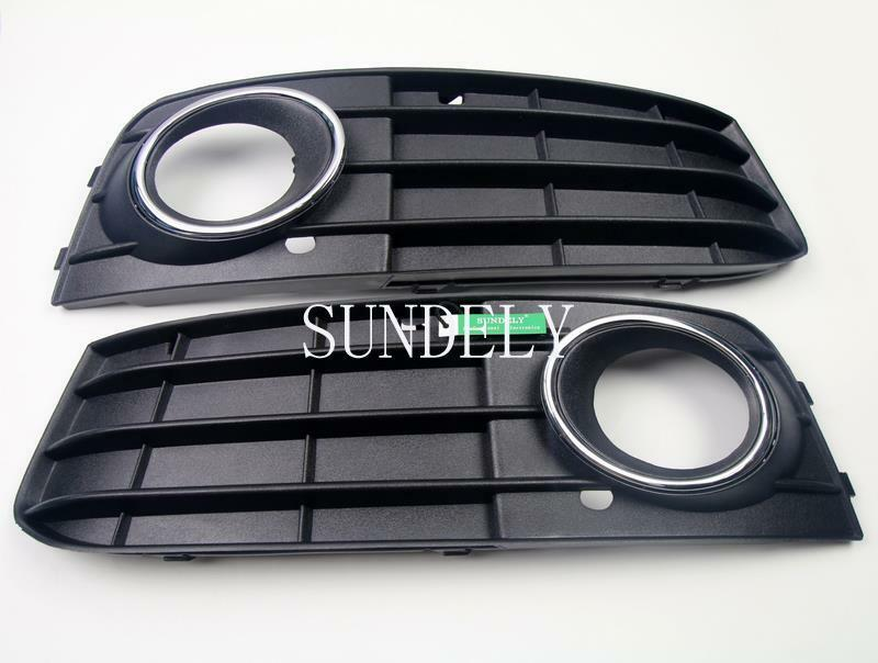 front bumper fog light grille cover for audi a4 a4l b8. Black Bedroom Furniture Sets. Home Design Ideas