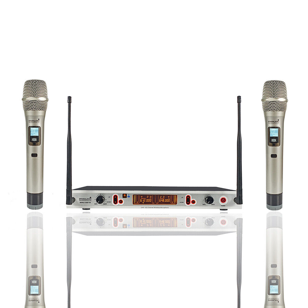 staraudio pro vhf wireless 4ch hand held headset microphone pa dj mic system ebay. Black Bedroom Furniture Sets. Home Design Ideas