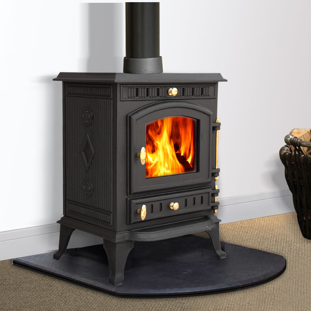 multifuel woodburner stove wood burning burner fire cast iron ebay