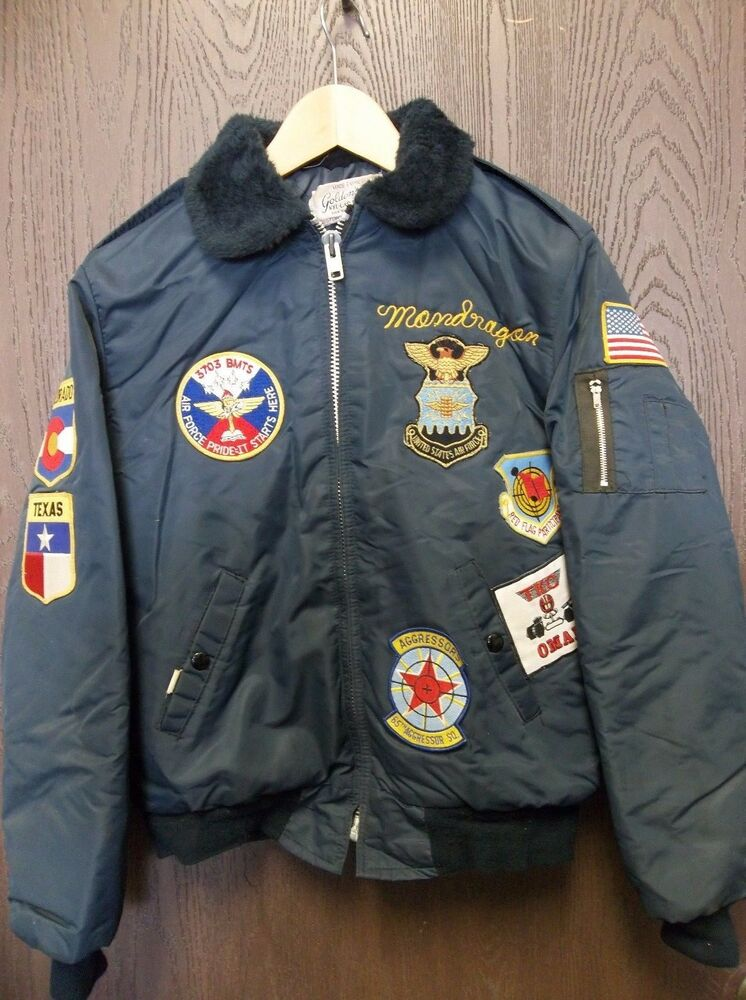 Vintage golden s u air force custom made jacket patches