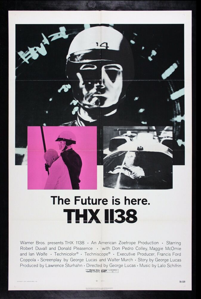THX 1138 * CineMasterpieces ORIGINAL MOVIE POSTER 1970 ...