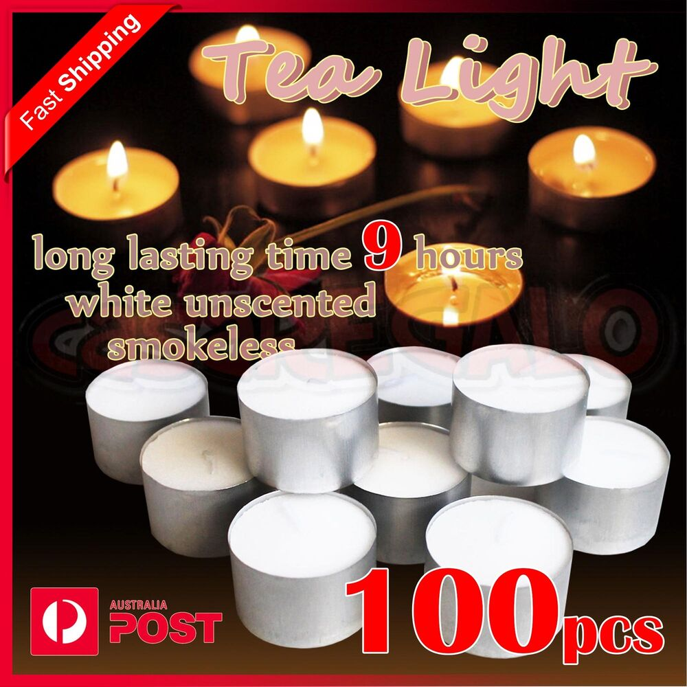 100pcs tea light candles tealight candle tealights home party wedding 9 hours ebay - Candle home decor photos ...