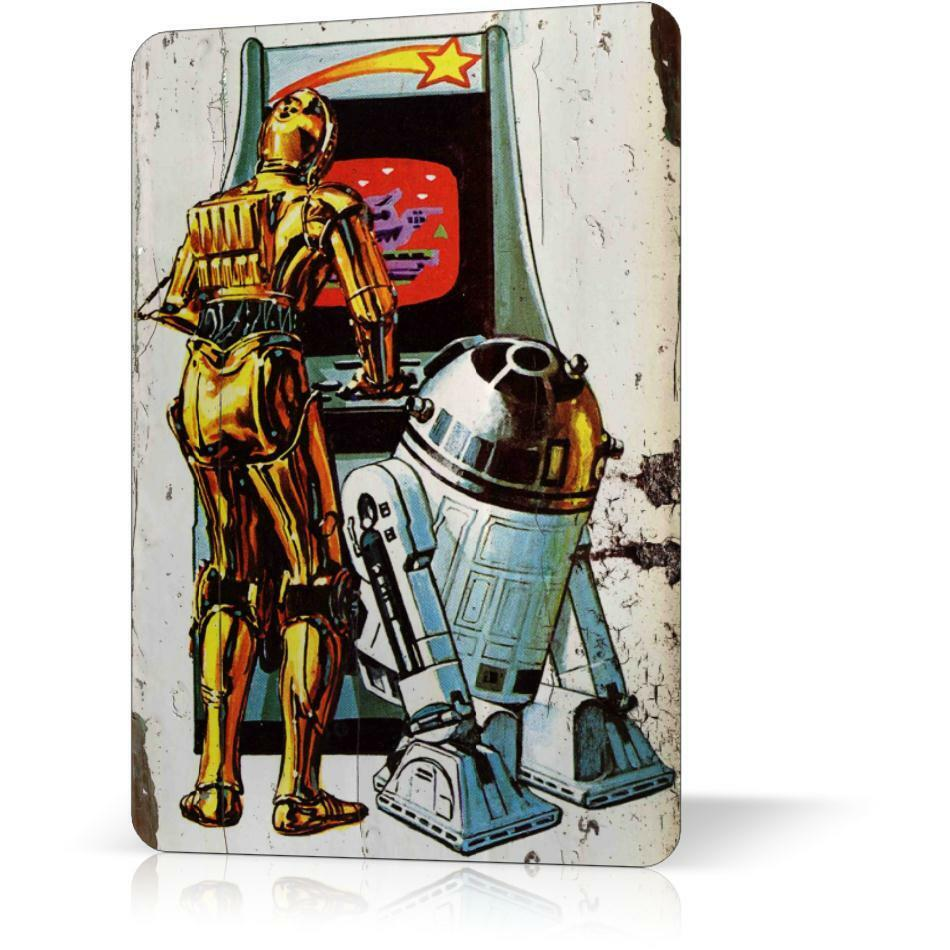 Vintage Star Wall Decor : Metal tin sign star wars rare exclusive vintage retro