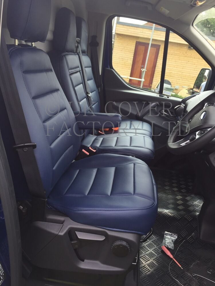 FORD TRANSIT CUSTOM TOURNEO 9 SEATER VAN SEAT COVER BLUE
