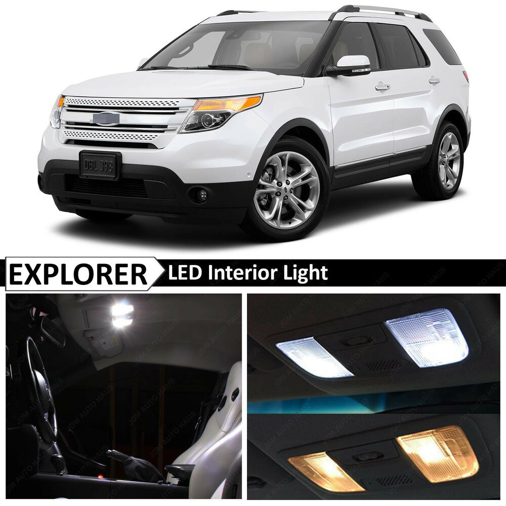 13x white interior led light replacement package kit for