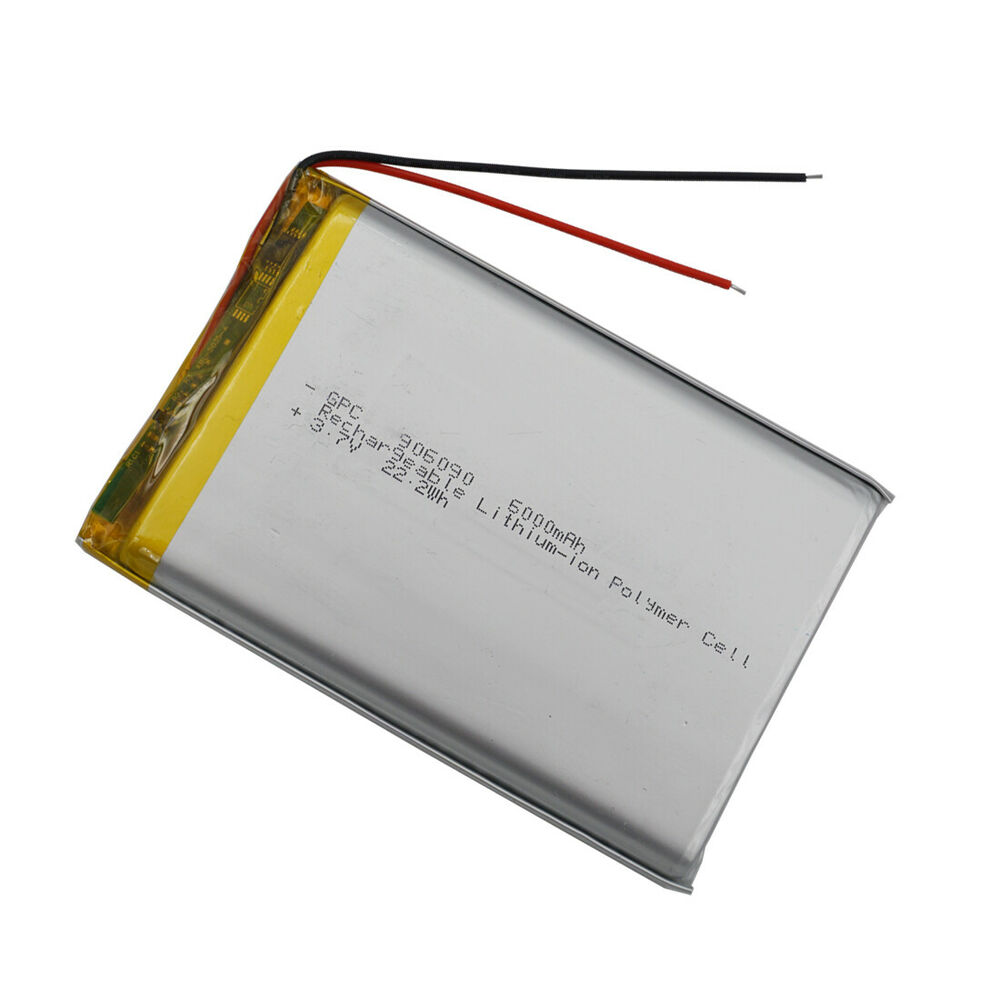 polymer li ion lipo li battery 3 7v 6000 mah for gps ipaq ipod tablet pc 906090 ebay. Black Bedroom Furniture Sets. Home Design Ideas
