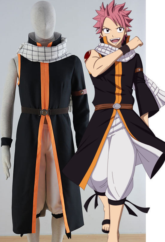 new anime fairy tail natsu dragneel cosplay costume ebay