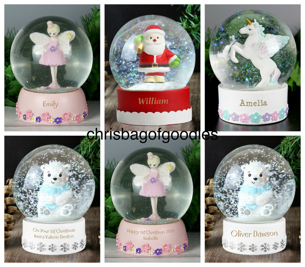 Http Www Edsfashions Co Uk Gift Ideas For Girls Age 10: PERSONALISED Glass BIRTHDAY CHRISTMAS XMAS SNOW GLOBE