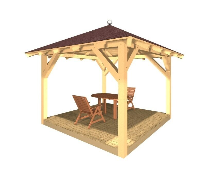 holzpavillon gartenpavillon pavillon kvh garten verzapft ebay. Black Bedroom Furniture Sets. Home Design Ideas
