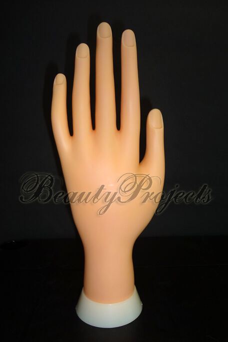 Practice Hand Mannequin For Nail Art Designs Stand Flexiable Bendable Fingers Ebay