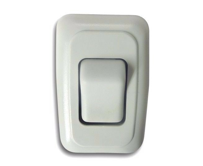 Single 1 Gang On-off 12 Volt White Light Switch
