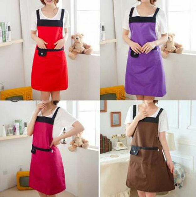 Fashion Women Waterproof Kitchen Restaurant Cooking Aprons