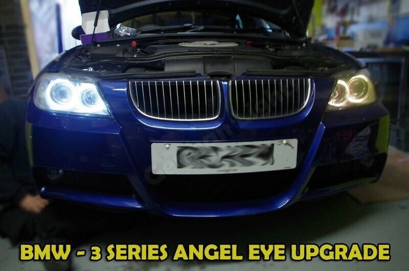bmw e90 pre lci angel eye upgrade marker xenon 6000k white 40w 3 series cree x5 ebay. Black Bedroom Furniture Sets. Home Design Ideas