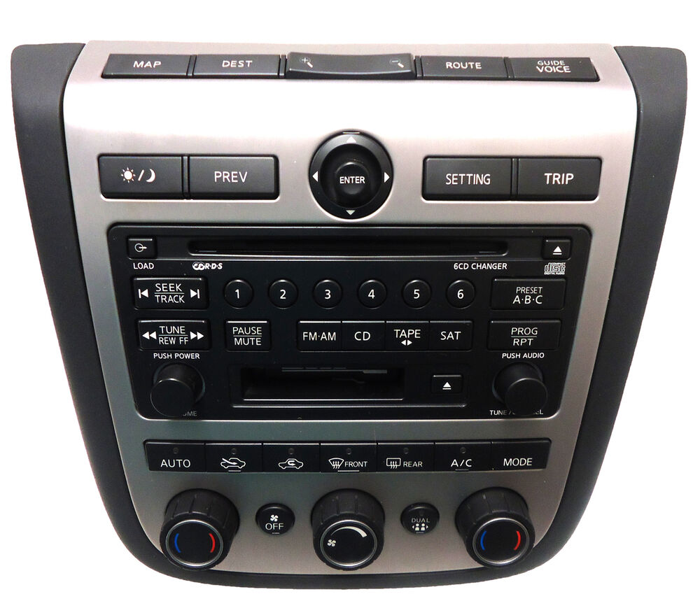 nissan murano bose sat radio 6 disc changer tape cassette. Black Bedroom Furniture Sets. Home Design Ideas