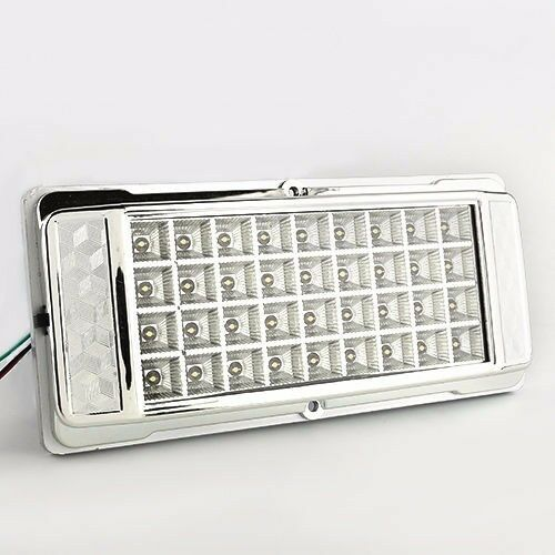 white 36 led car vehicle dome roof ceiling interior light lamp dc 12v silver us ebay. Black Bedroom Furniture Sets. Home Design Ideas