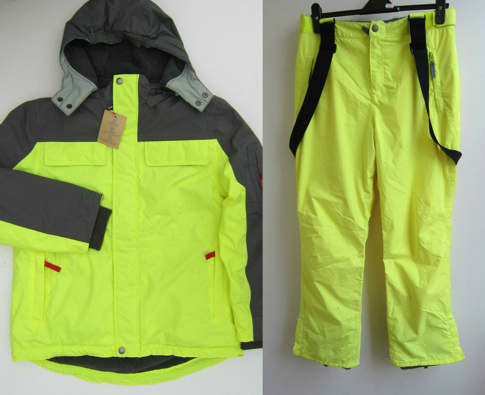 Johnnie b boden grey yellow ski snow jacket coat for Boden yellow coat