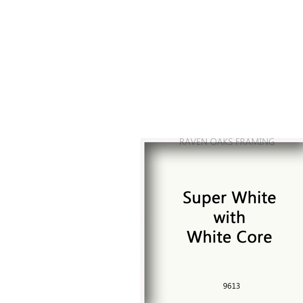 White W White Core Conservation Matboard Custom Cut