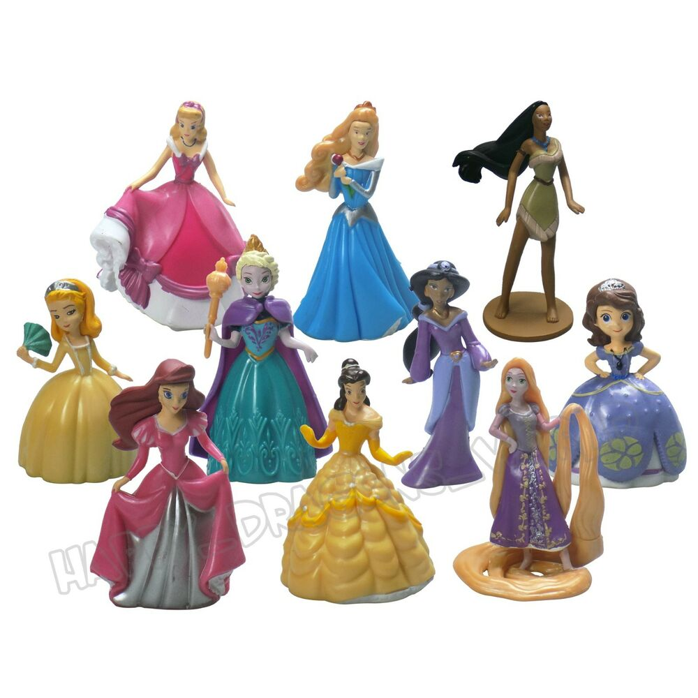 Toys For Disney : Pcs disney princess figurines character toys doll cake