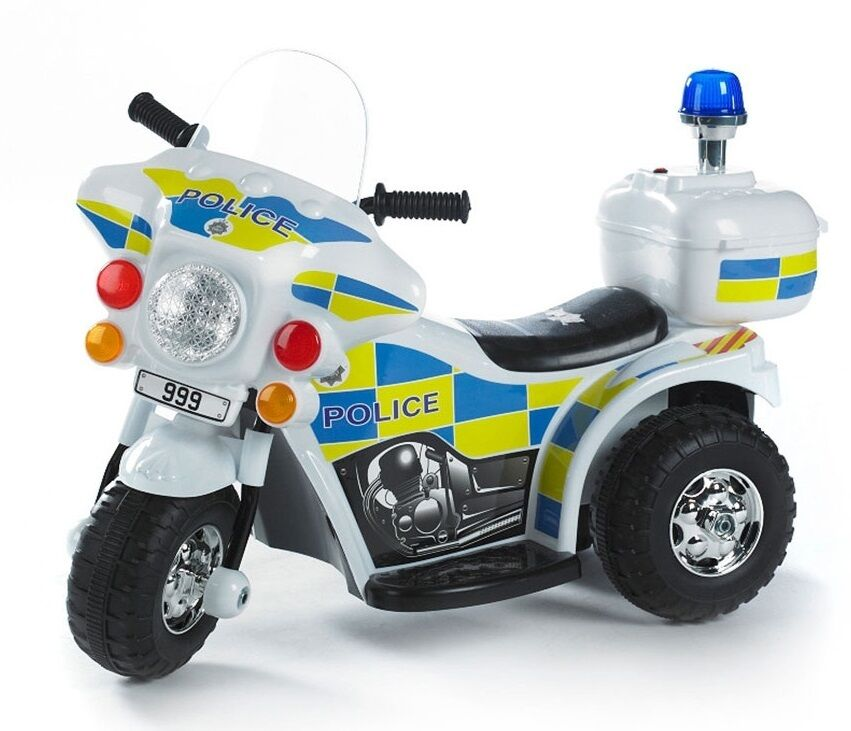 Battery Powered Ride On Toys For Toddlers >> Kids RIDE ON ELECTRIC BIKE - Police - 6V - Forward & Reverse - Ages 2+ | eBay