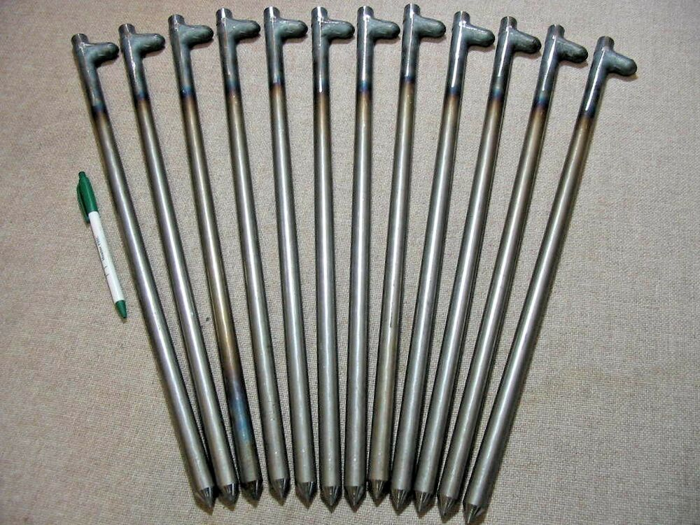 Steel Grade Stakes : Pack of quot long steel stakes spikes or pegs heavy