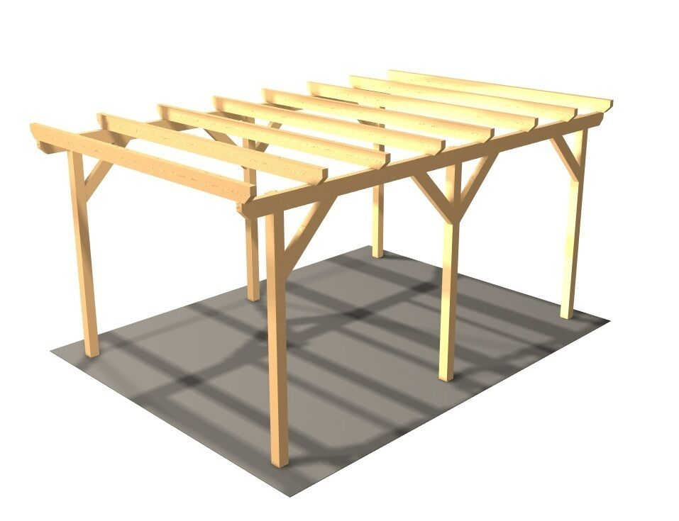 carport holzcarport einzelcarport kvh auto pkw holz carport holz ebay. Black Bedroom Furniture Sets. Home Design Ideas