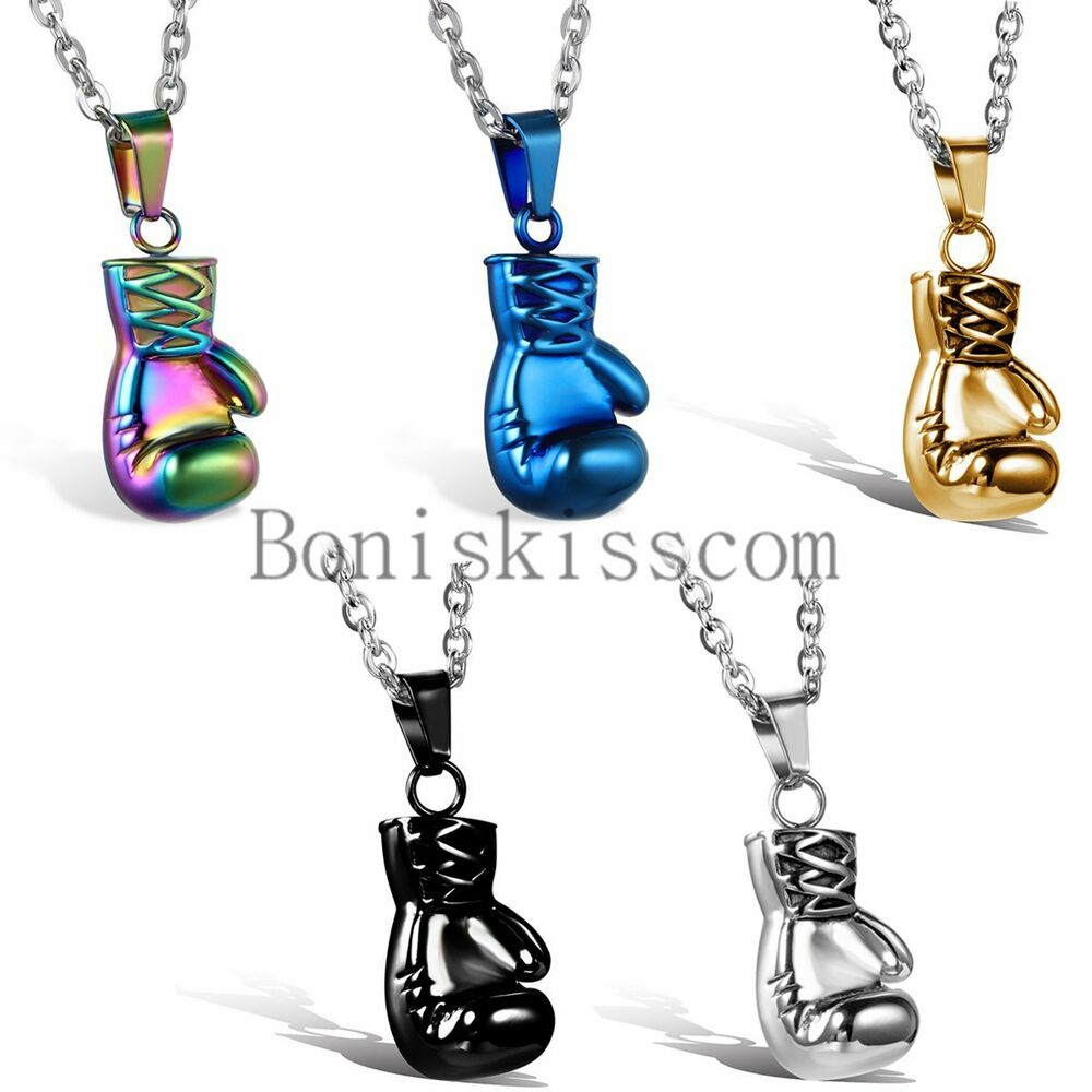 Rocky 3D Boxing Glove Charm Stainless Steel Men's Pendant ...