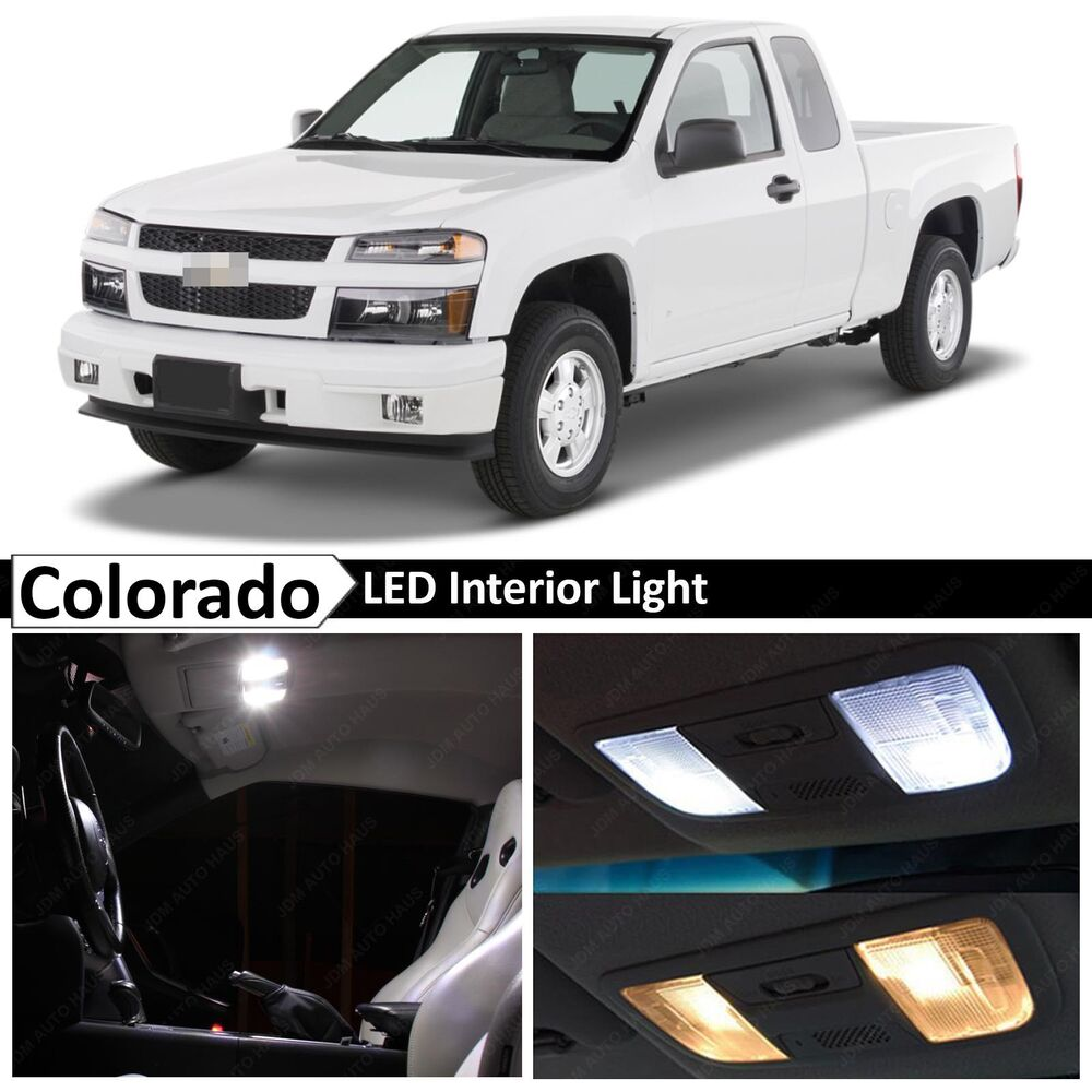 12x white led light interior package kit for 2004 2012 chevy colorado ebay. Black Bedroom Furniture Sets. Home Design Ideas